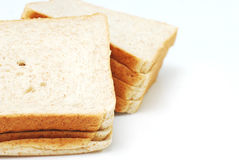 Bread on white background Stock Images