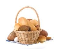 Bread on white background Stock Photos