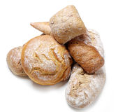 Bread. On a white background royalty free stock photos