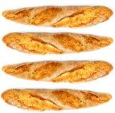 Bread on white background Royalty Free Stock Photos