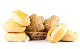 Bread on a white background. Stock Photography