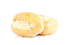 Bread on a white background. Royalty Free Stock Photo