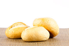 Bread on a white background. delicious buns  isolated on white Royalty Free Stock Photos