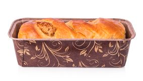 Bread. On white background. The file includes a clipping path, so it& x27;s easy to work Royalty Free Stock Photography