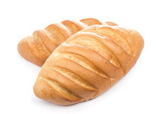 Bread on a white background Stock Photos