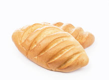 Bread on a white background Royalty Free Stock Photo