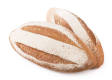 Bread on a white background Royalty Free Stock Photos