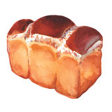 Bread on a white background royalty free illustration