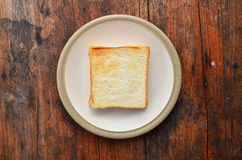 Bread on white dish. Two bread on white dish Stock Photography