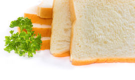 The bread on white isolate. Royalty Free Stock Images