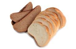 Bread on white Stock Photo