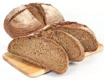 Bread on white. Tasty fresh gourmet bread  on white Stock Photos