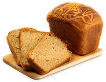 Bread on white. Tasty fresh gourmet bread  on white Stock Images
