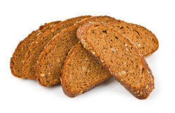 Bread on white Stock Photography