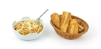 Bread and Whole Grain Pasta Royalty Free Stock Photo
