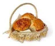 Bread in a wicker basket Royalty Free Stock Photo