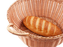 Bread in a wicker basket Royalty Free Stock Images