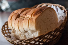 Bread in wicker basket Royalty Free Stock Photo