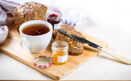 Bread wih jam Stock Photography