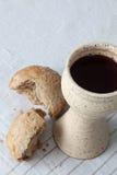 Bread and wine Stock Photo