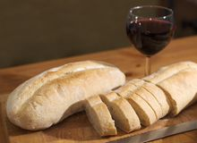 Bread and Wine stock photography