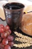 Bread and wine stock photos