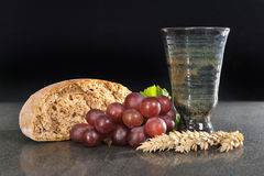 Bread and wine Stock Photos