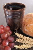 Bread and wine Royalty Free Stock Photos