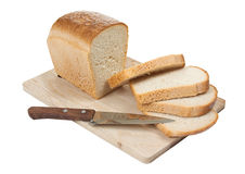 Free Bread With A Knife On A Cutting Board Royalty Free Stock Photo - 15556975