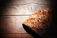 Bread On Wood Stock Images