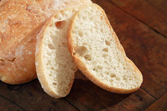 Bread On Wood Royalty Free Stock Photo