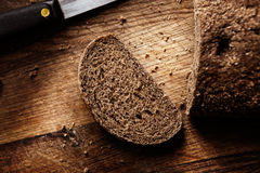 Bread on the wood Royalty Free Stock Image