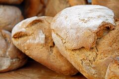 Bread, Wood Oven Bread Royalty Free Stock Photography
