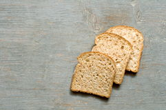 Bread on wood Royalty Free Stock Images