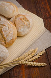 Bread on wood table Stock Photo