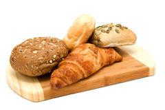 Bread on wooden board Royalty Free Stock Photo