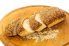 Bread  wooden plate Royalty Free Stock Images