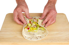 Bread wrap Royalty Free Stock Images
