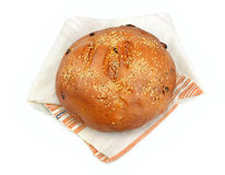 Bread wrapped in a towel Royalty Free Stock Photos