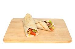 Bread wraps Stock Image