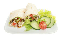 Bread wraps and salad Royalty Free Stock Photo