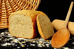 Bread. You can see prepair for cook stock image