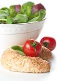 bread zielonego obfitolistnego sałatkowego pomidoru Zdjęcia Royalty Free
