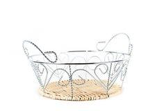 Breadbasket closeup isolated on white background Stock Photo