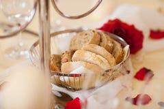 Breadbasket On Restaurant Table Stock Photos
