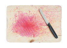 Breadboard with Knife Royalty Free Stock Photography