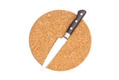 Breadboard with a knife Royalty Free Stock Photography