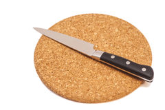 Breadboard with a knife Stock Image