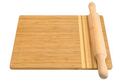 Breadboard and rolling pin Stock Photos