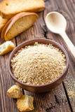 Breadcrumbs. In a bowl with crackers Royalty Free Stock Photography